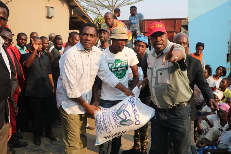 Hakainde Hichilema UPND maize mealie corn drought in zambia