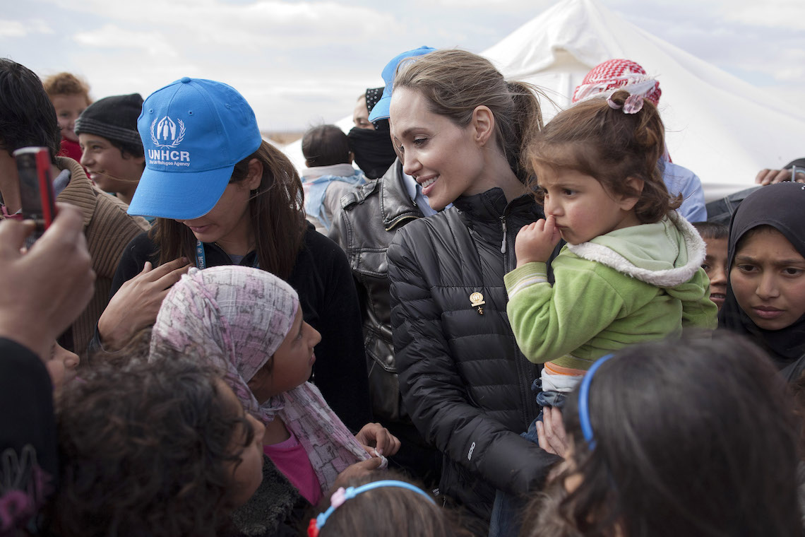 angelina jolies speech on the issue of syrian refugees In a speech in london, the oscar winner and un special envoy for refugees urges the international community to respond to europe's refugee crisis could deal with the issue (read: angelina jolie visits syria refugees in lebanon on war's 5th anniversary) it has given space to a false air of legitimacy to.