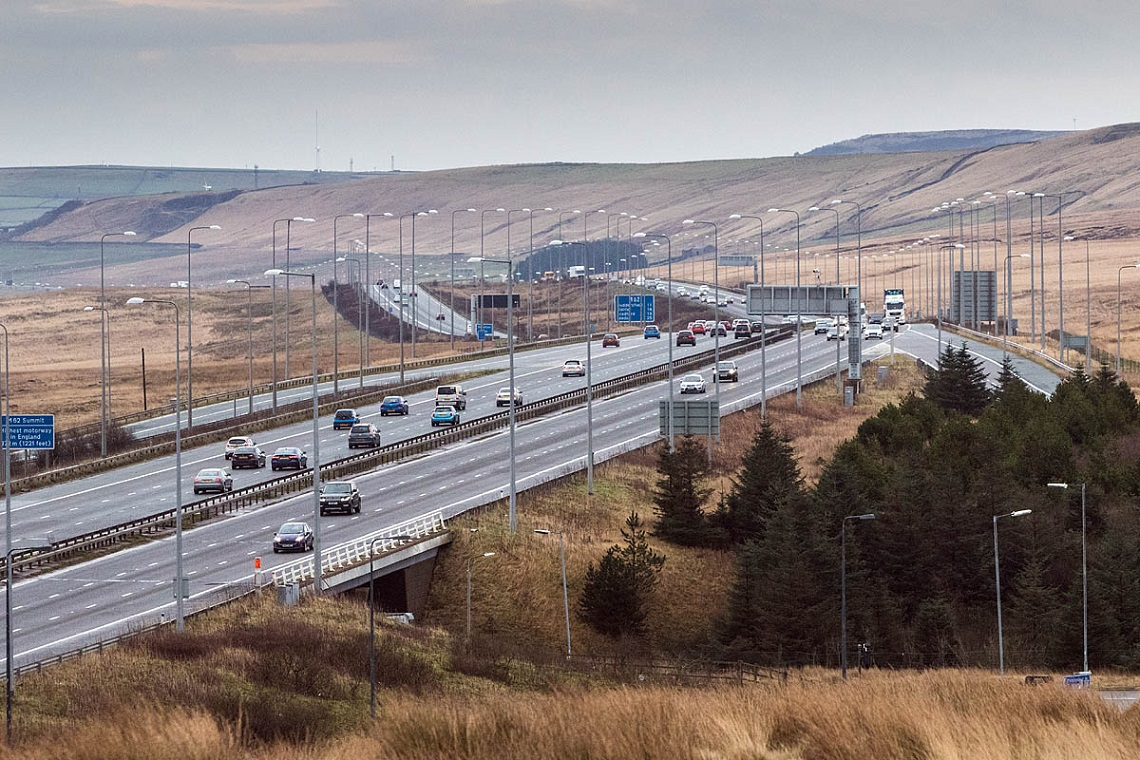 M62 connecting Liverpool to Hull, UK