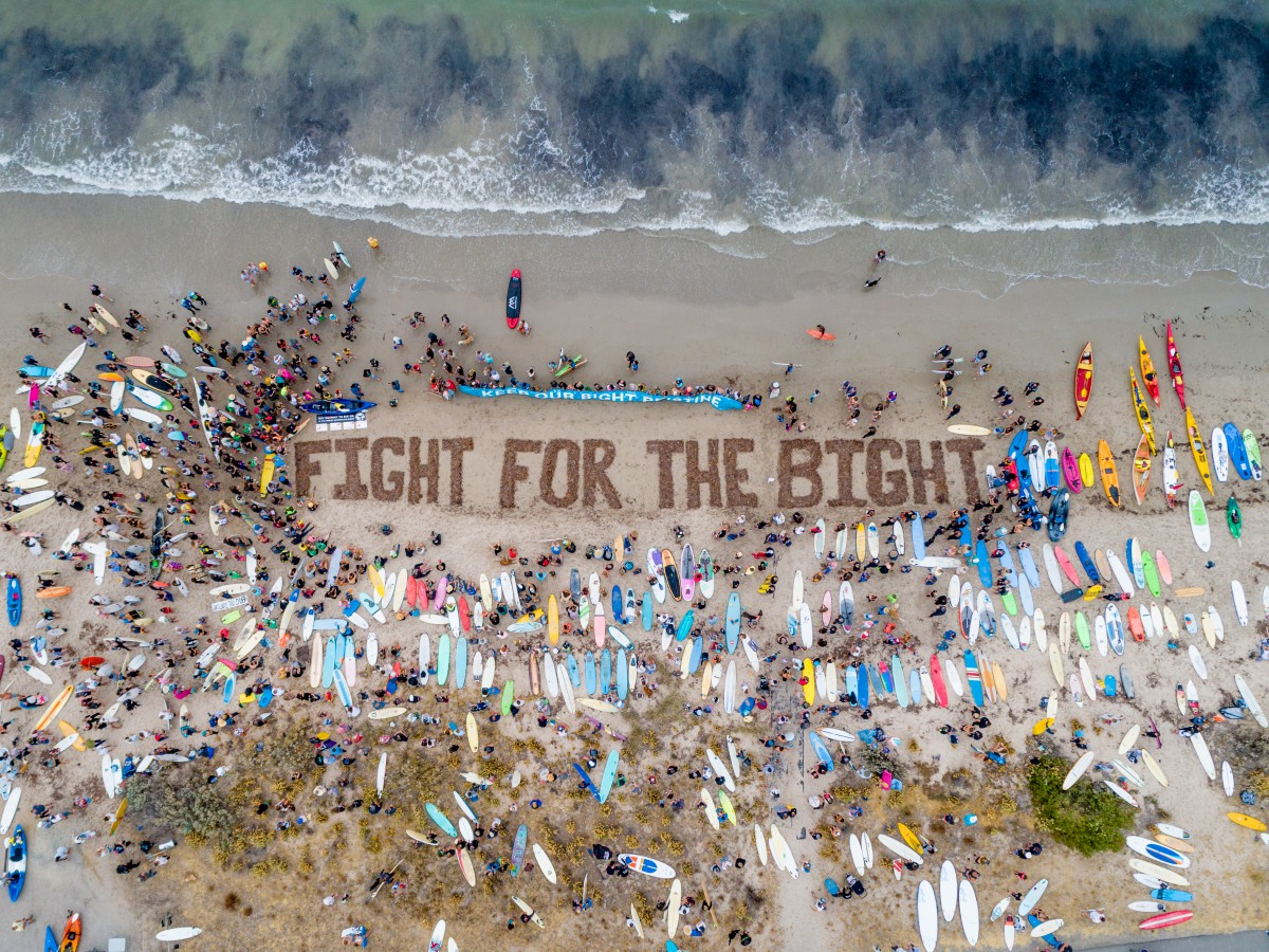 The Fight for the Bight movement, to save the Great Australian Bight from the oil industry