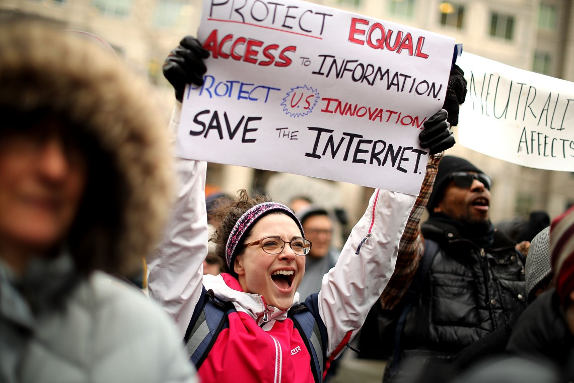 Protests net neutrality