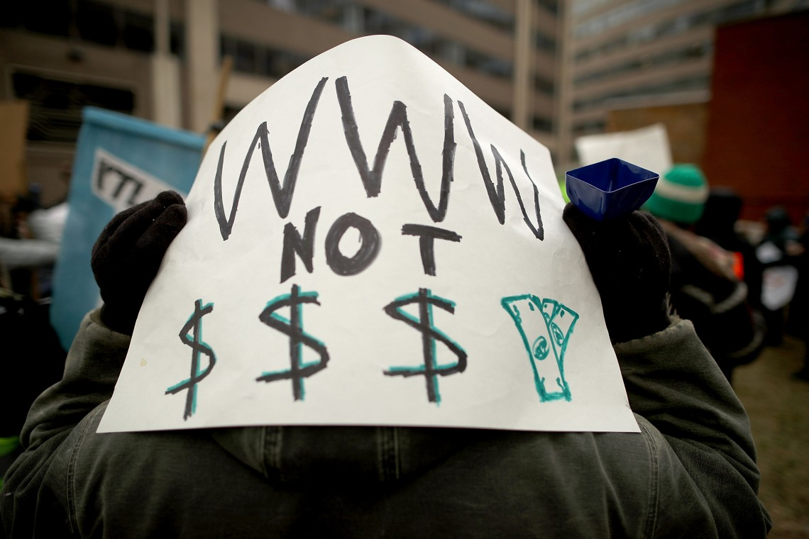 Protests internet Service Providers