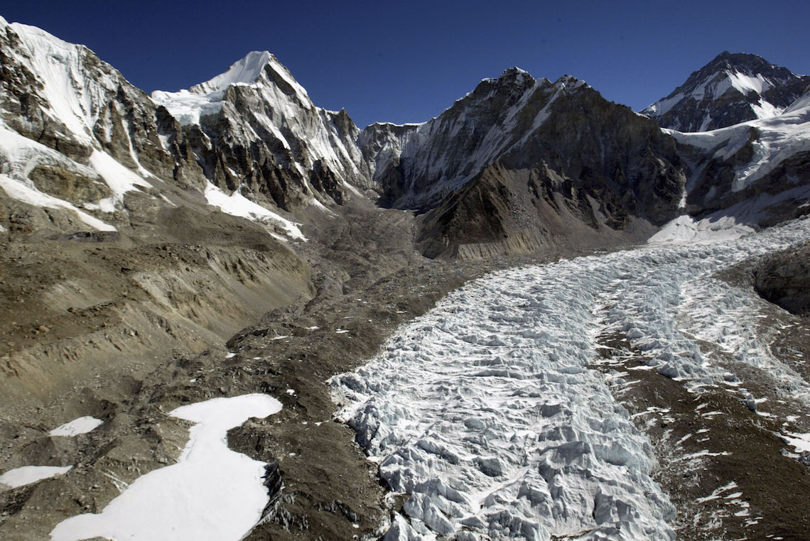 At least two large glaciers have disappeared over the last fifty years in the Himalayan range © Paula Bronstein/Getty Images