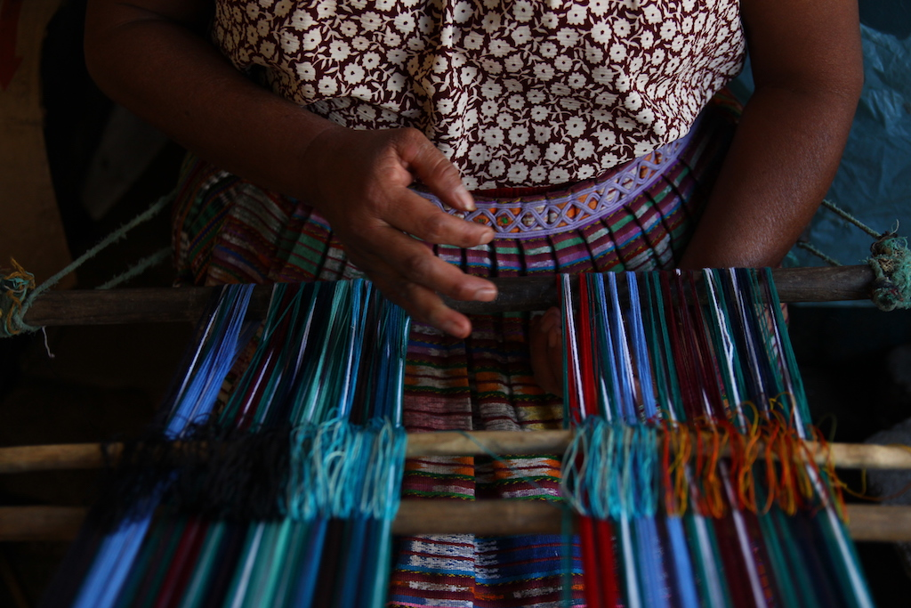 Behind the scenes weaving for Teixchel © Courtesy of Teixchel