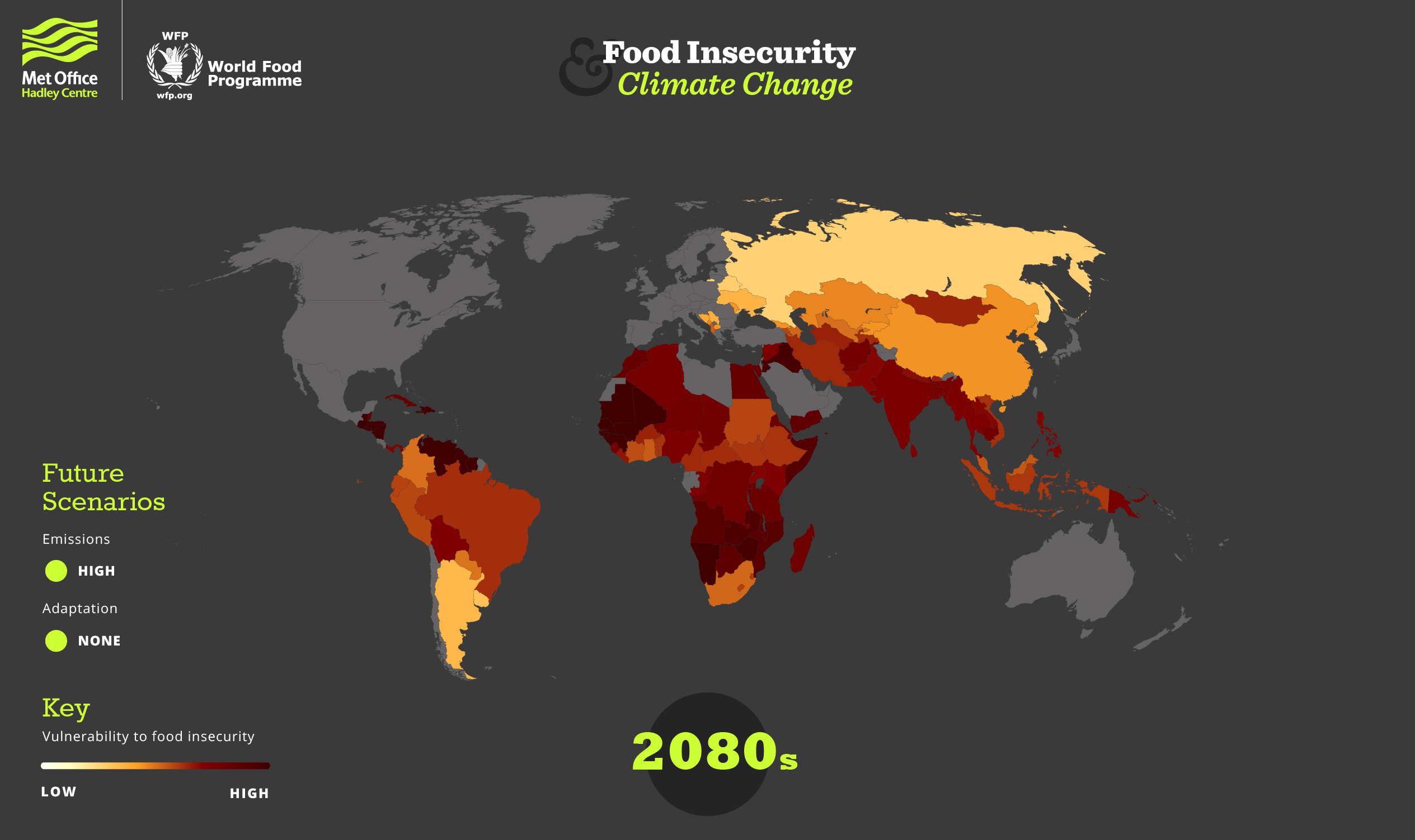 Food insecurity in 2080