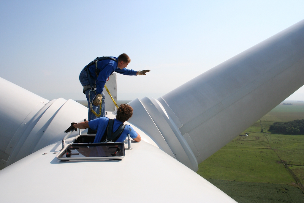 wind power falling price