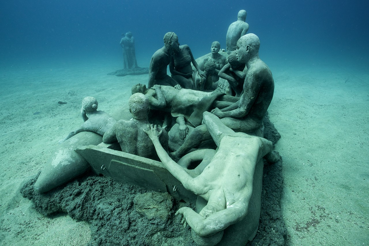 Europe 39 s first underwater museum is dedicated to migrants for Spain underwater museum