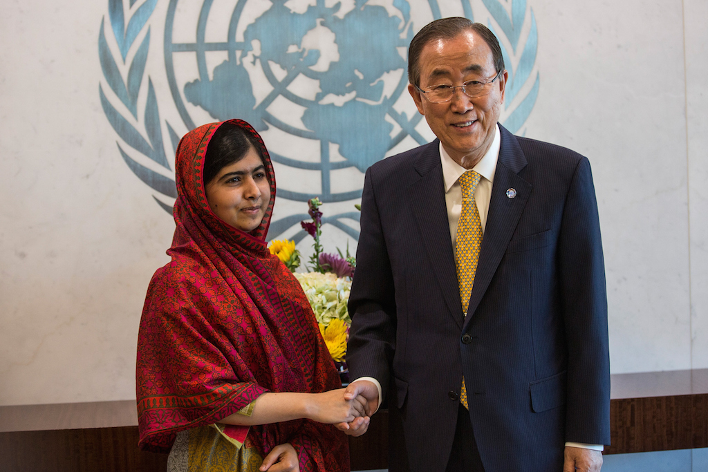 Ban Ki-Moon Meets With Malala Yousafzai At The U.N.