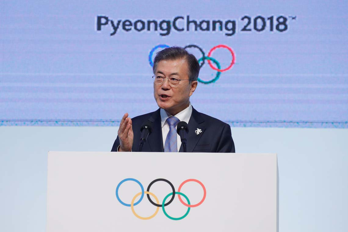 Moon Jae-In olympics speech