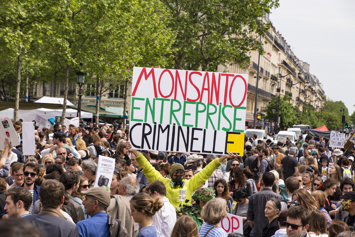 protests monsanto glyphosate in honey