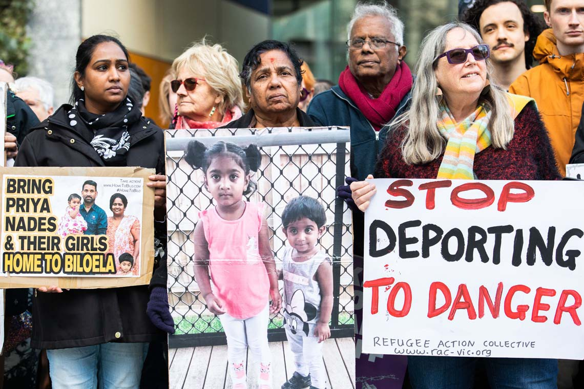 protests australia deportaton tamil migrants refugees
