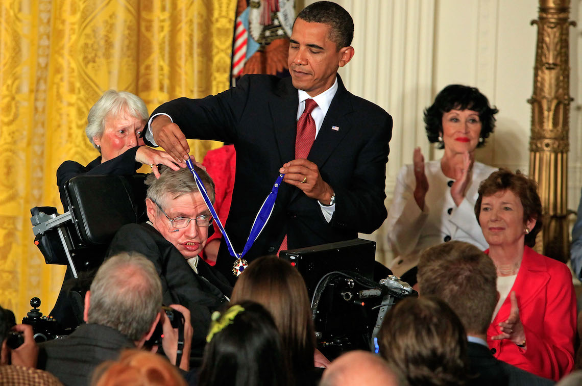 stephen hawking and barack obama