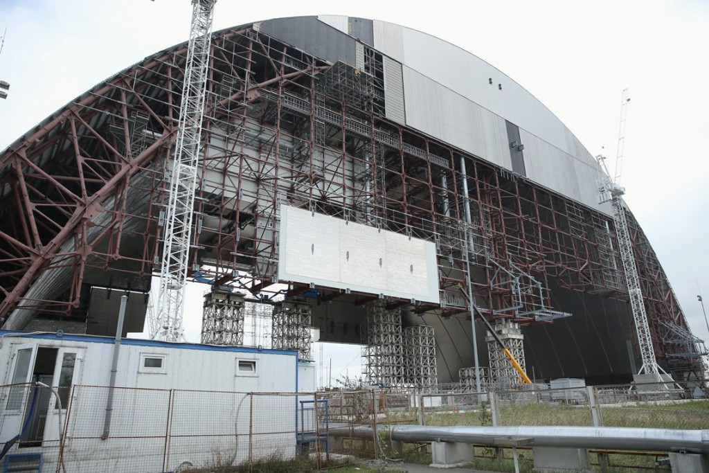 The New Safe Confinement arch will contain all radiation released during the dismantling of Chernobyl's reactor number four