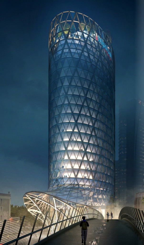 The new UnipolSai tower in Milan