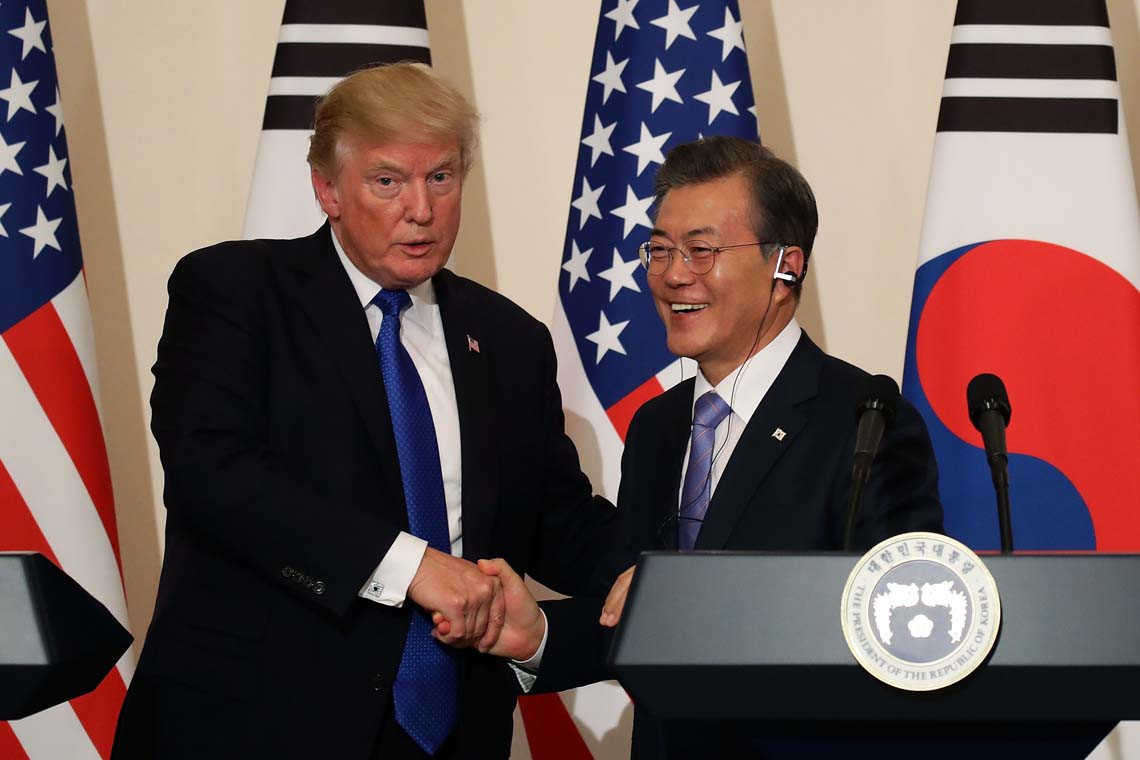 trump moon jae in meet
