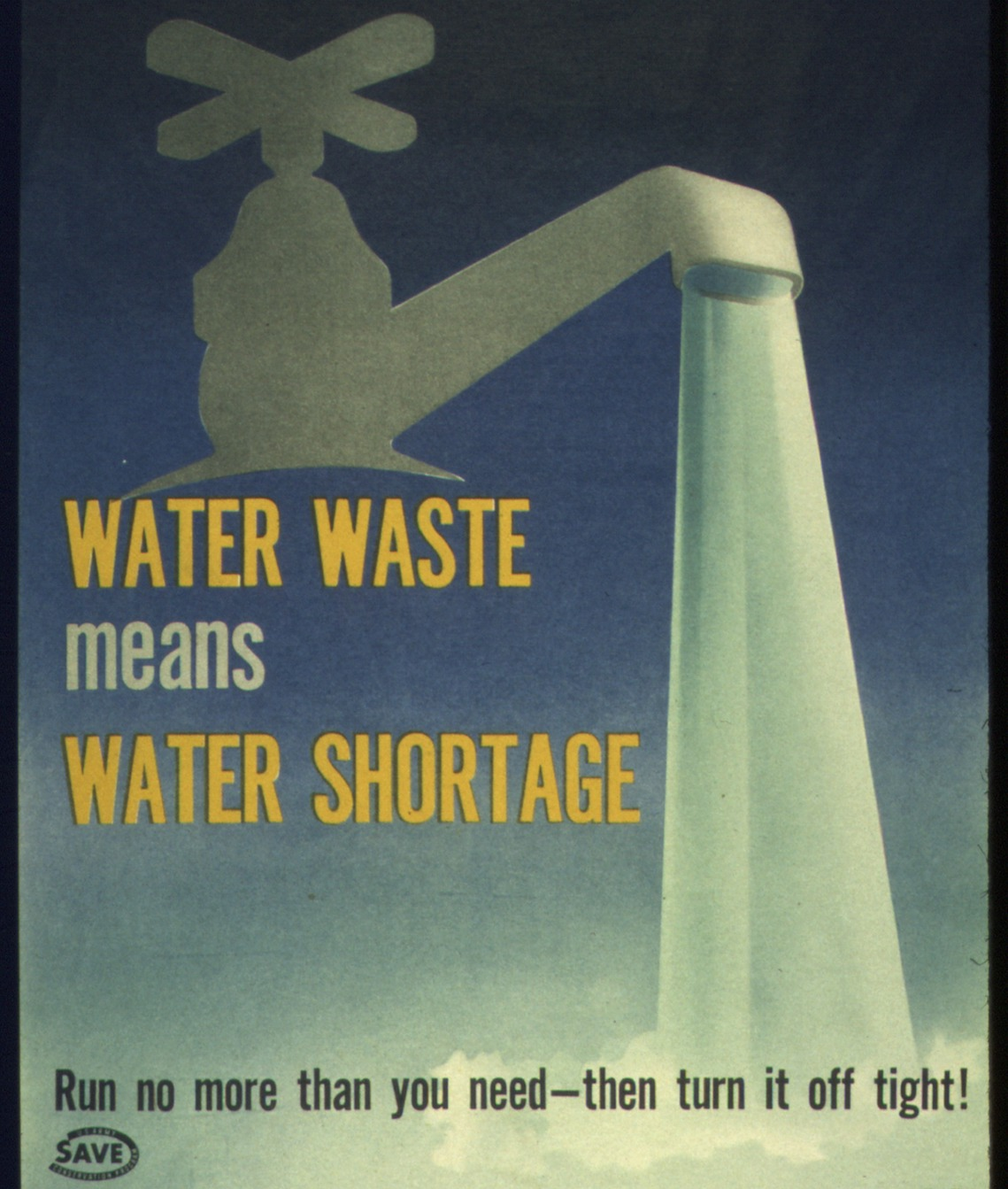 Water waste means water shortage
