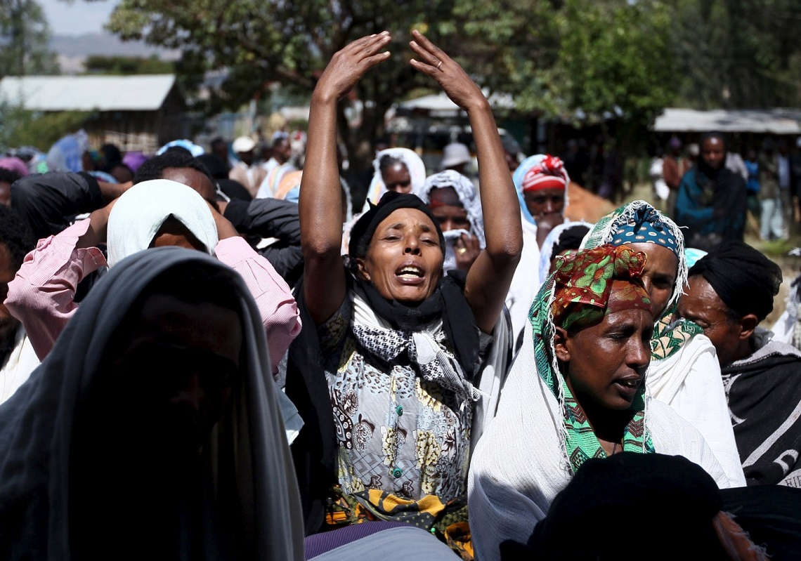 Ethiopia, police fired live bullets at peaceful protesters