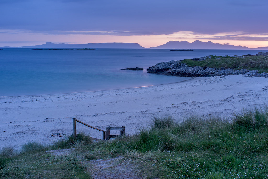 Isle of Eigg, scotland, sunset,