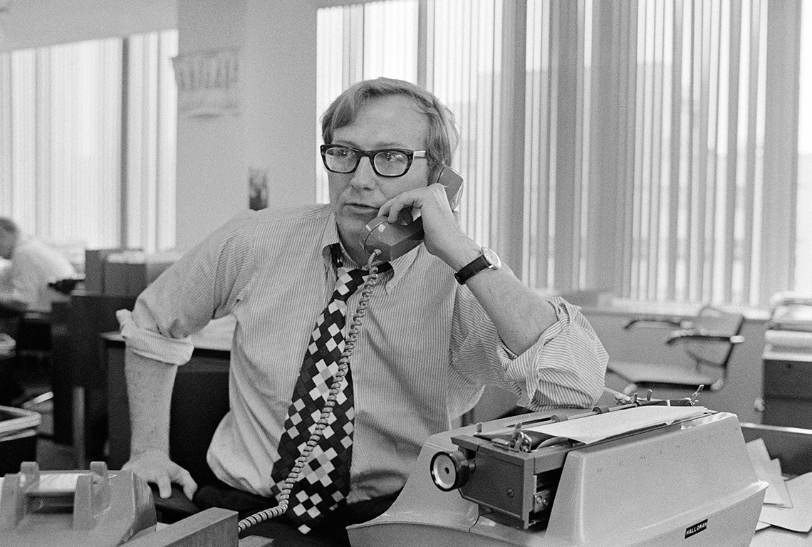 Il giornalista Seymour Hersh del New York Times © Wally McNamee/CORBIS
