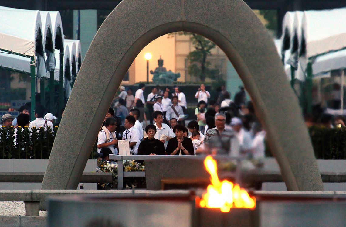 Il memoriale di Hiroshima, in Giappone © The Asahi Shimbun via Getty Images
