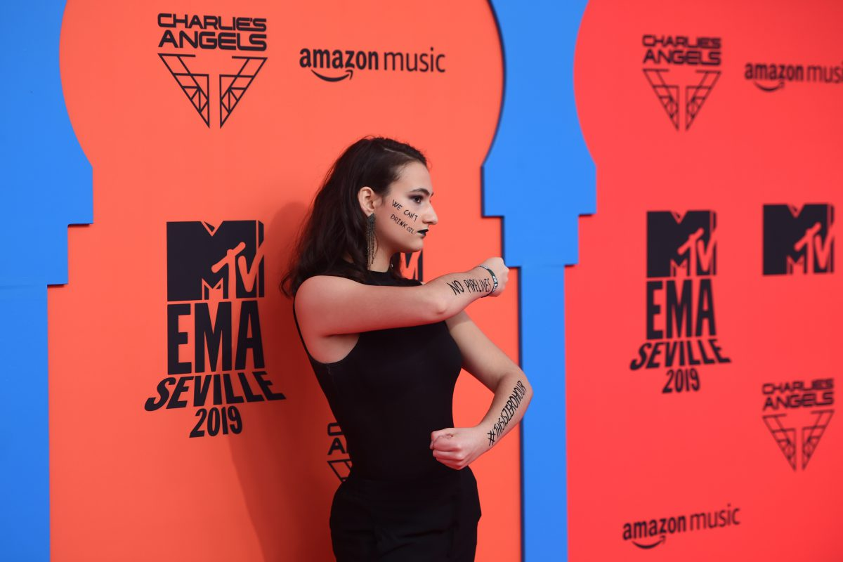 Climate activist Jamie Margolin at the MTV EMAs 2019