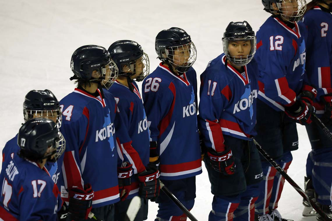 unified female Korean hockey team