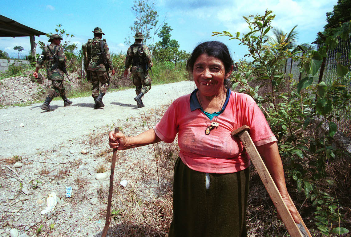 colombia civil war woman tiller