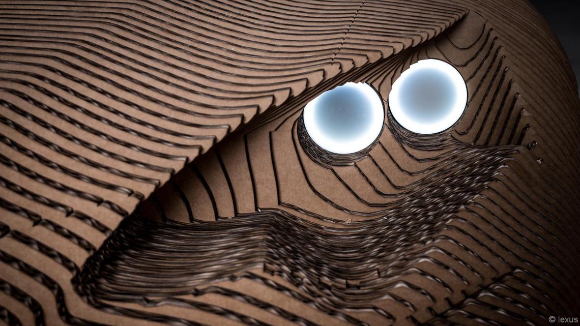 Lexus builds an elctric car made from laser-cut cardboard