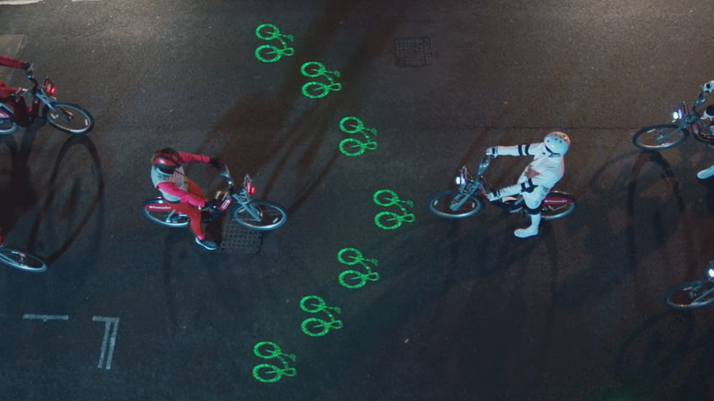 laserlight bike sharing