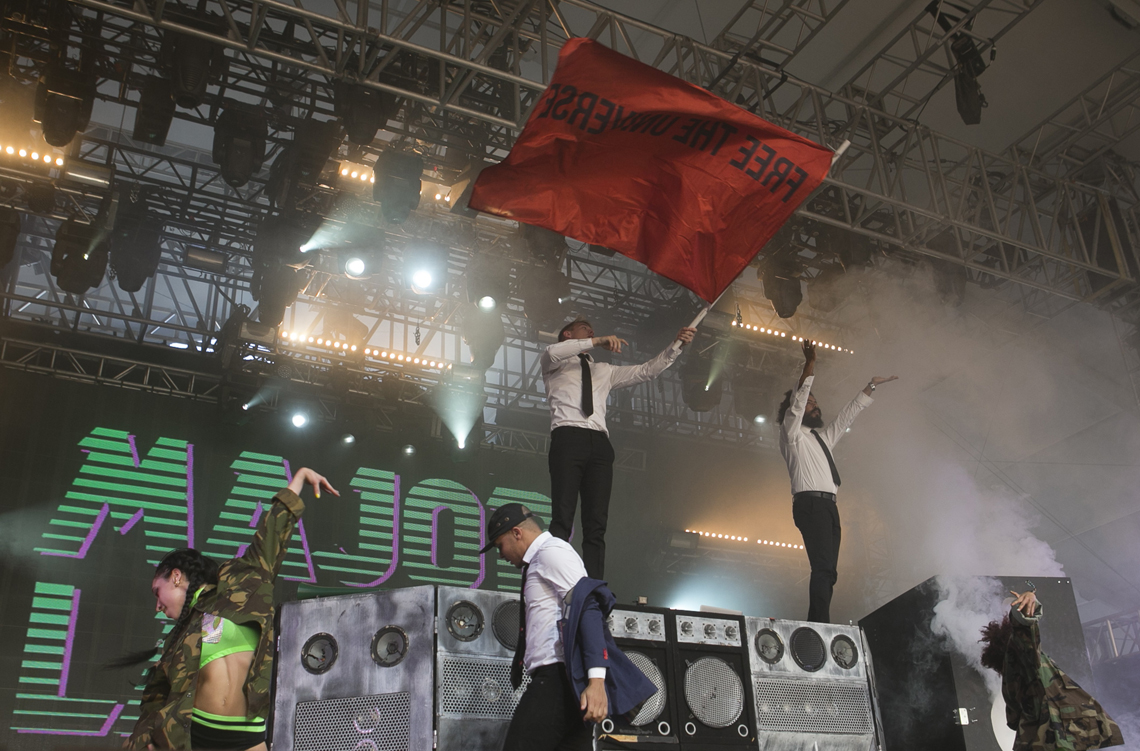 Major Lazer  Coachella flag