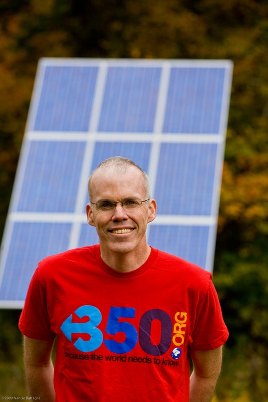 Bill McKibben, American environmentalist, author and founder of 350.org