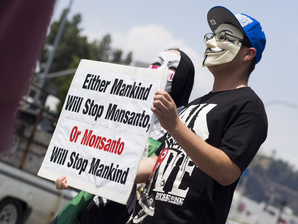 Proteste contro Monsanto a Los Angeles, maggio 2015 © ROBYN BECK/AFP/Getty Images