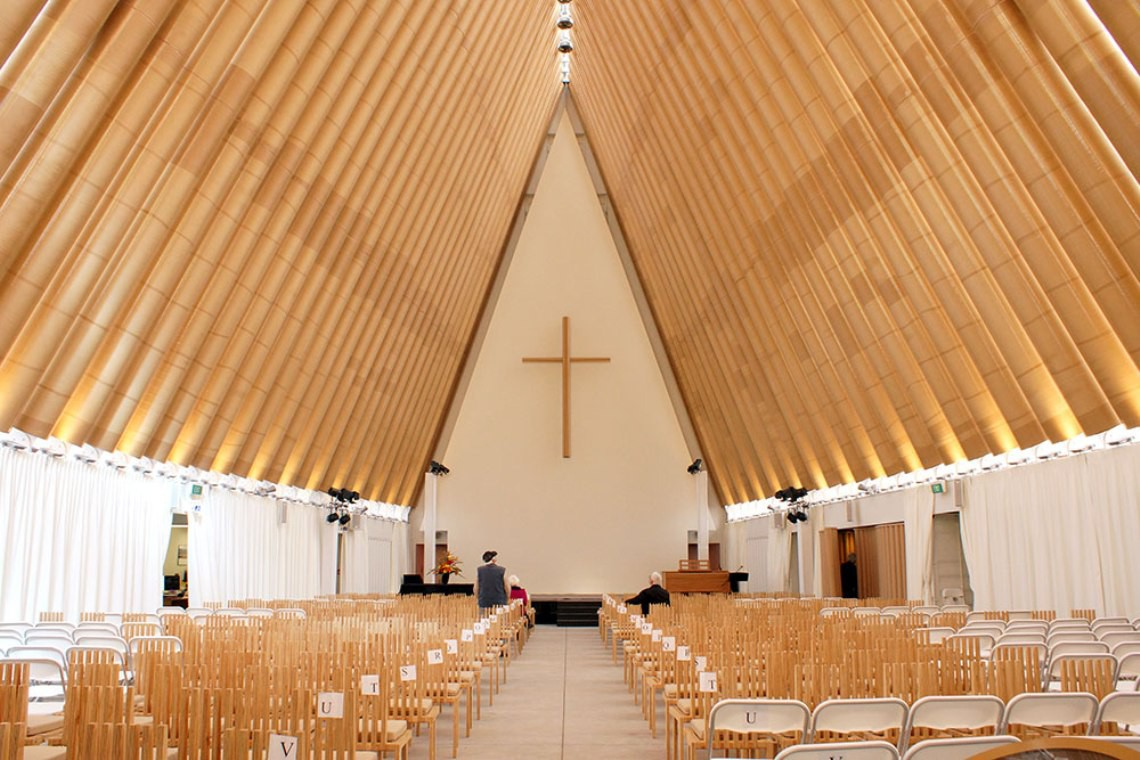 Paper Church by Shigeru Ban
