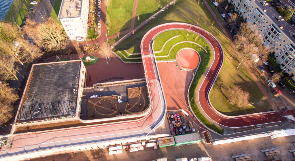 pista ciclabile utrecht green roof