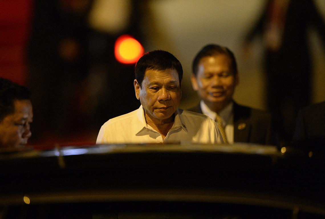 Il presidente delle Filippine, Rodrigo Duterte © NOEL CELIS/AFP/Getty Images