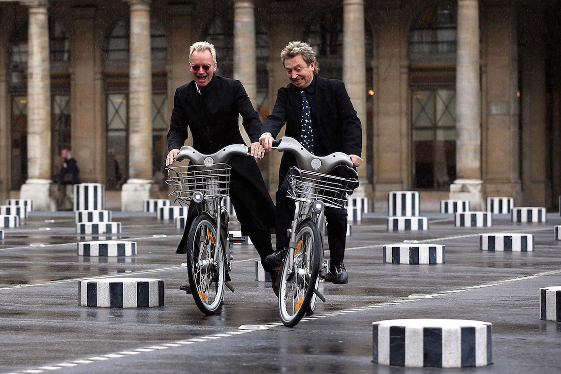 sting andy summers riding velib