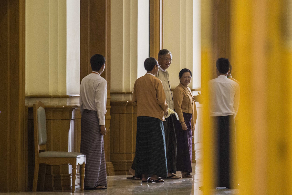 U Htin Kyaw (centre) © Lauren DeCicca/Getty Images