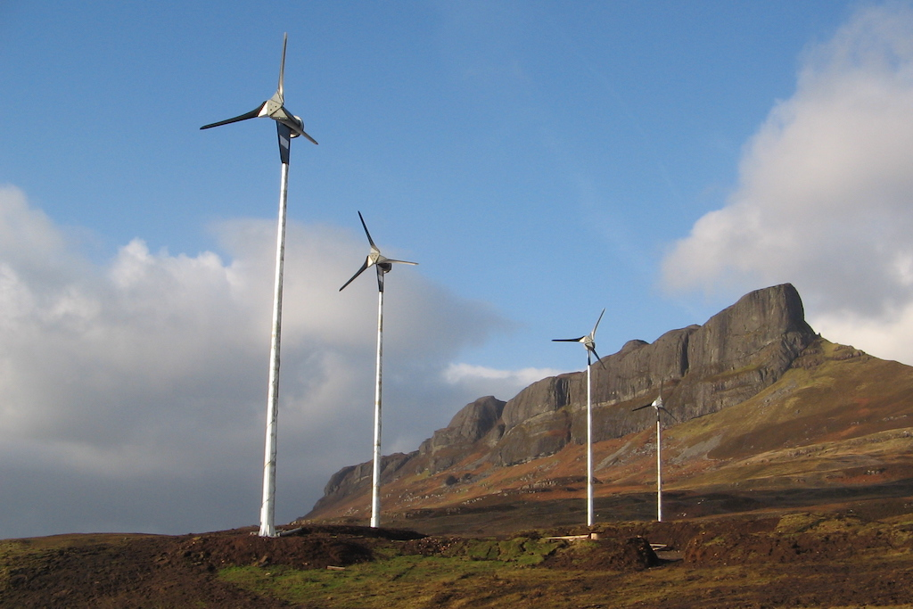 wind turbines, eigg, scotland, renewables